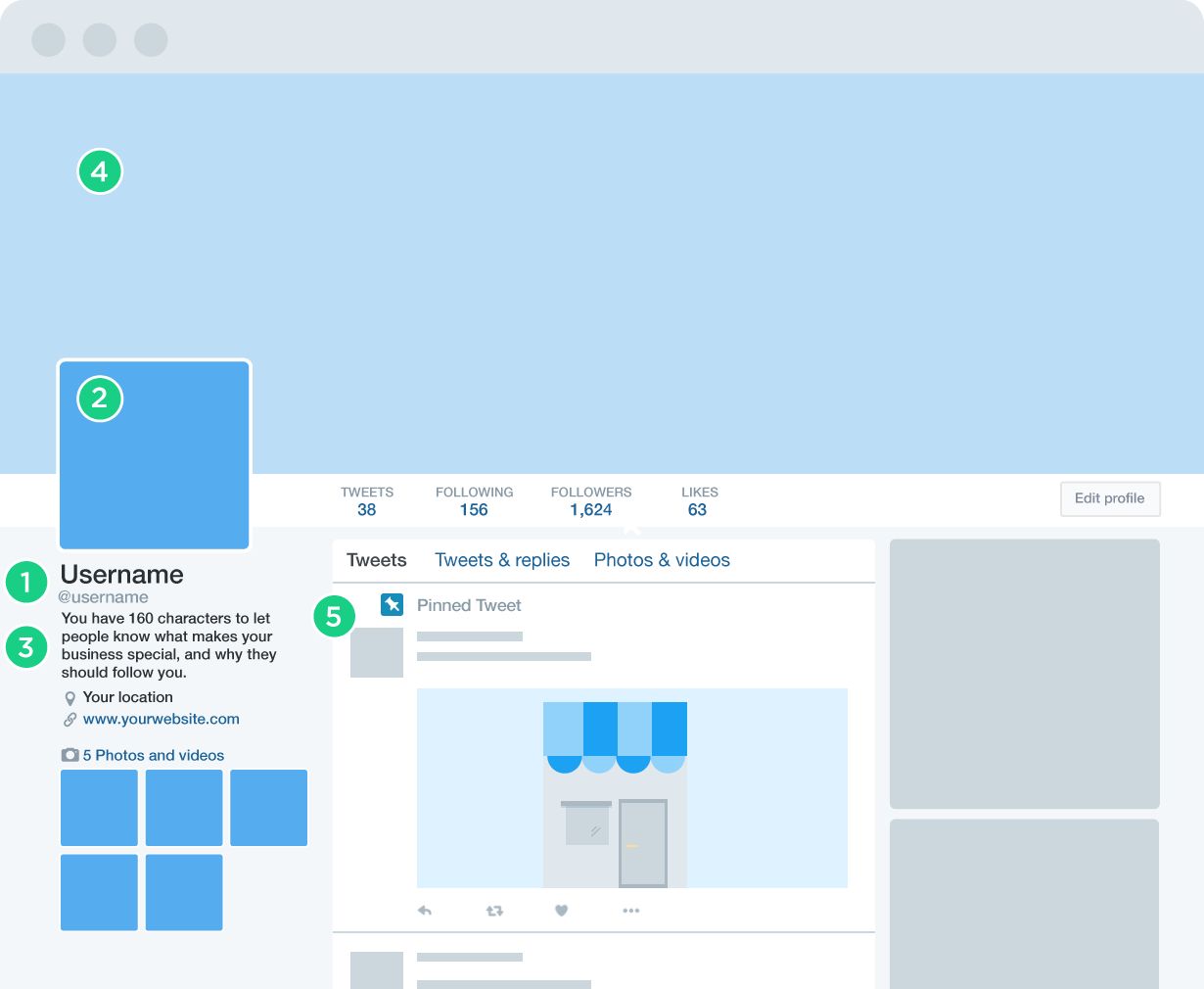 how to create a twitter business page