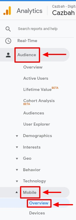 how to view user mobile devices in google analytics