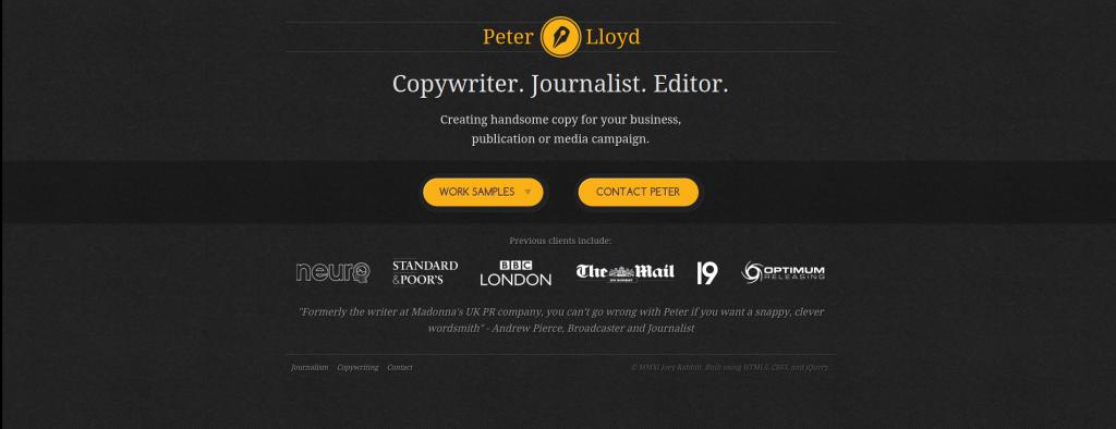 PeterLloydCopywriterJournalistEditor
