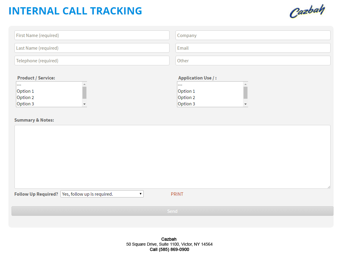 Free Call Log Template PDF · Digital Call Log Tracking Form Example