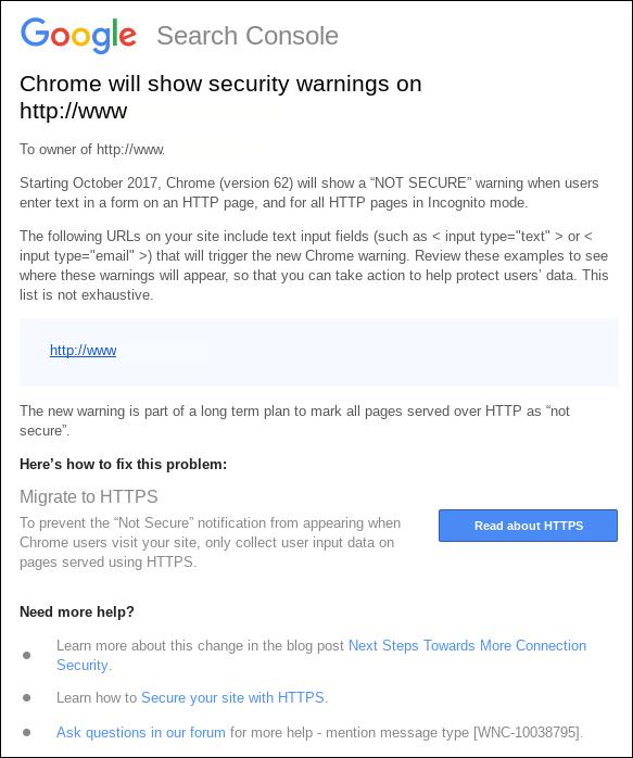 Google HTTPS update