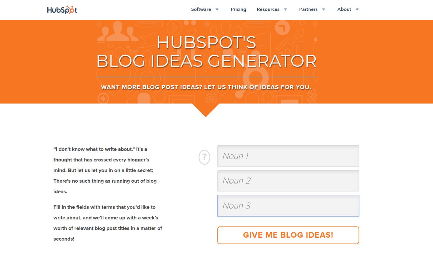 Hubspot ideas generator