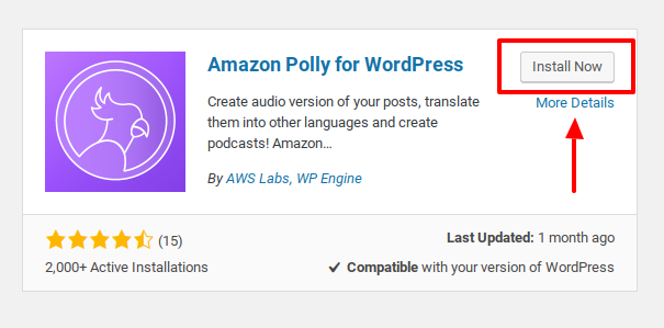 install amazon polly plugin