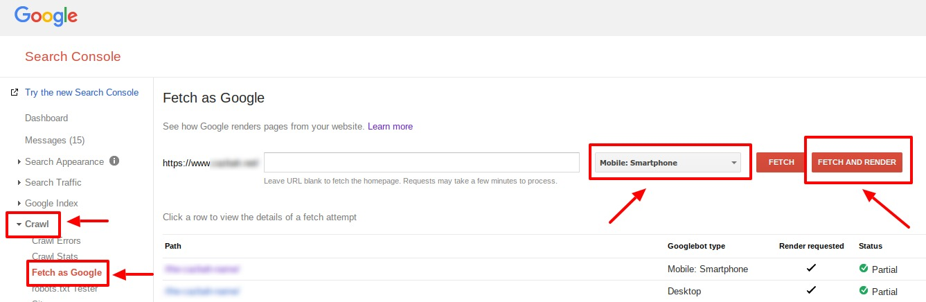 google search console fetch as google tutorial
