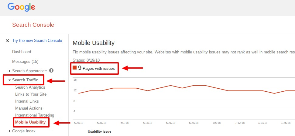 google search console mobile usability tutorial
