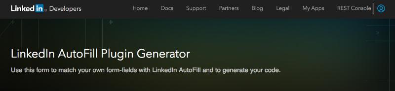 linkedin plugin generator page
