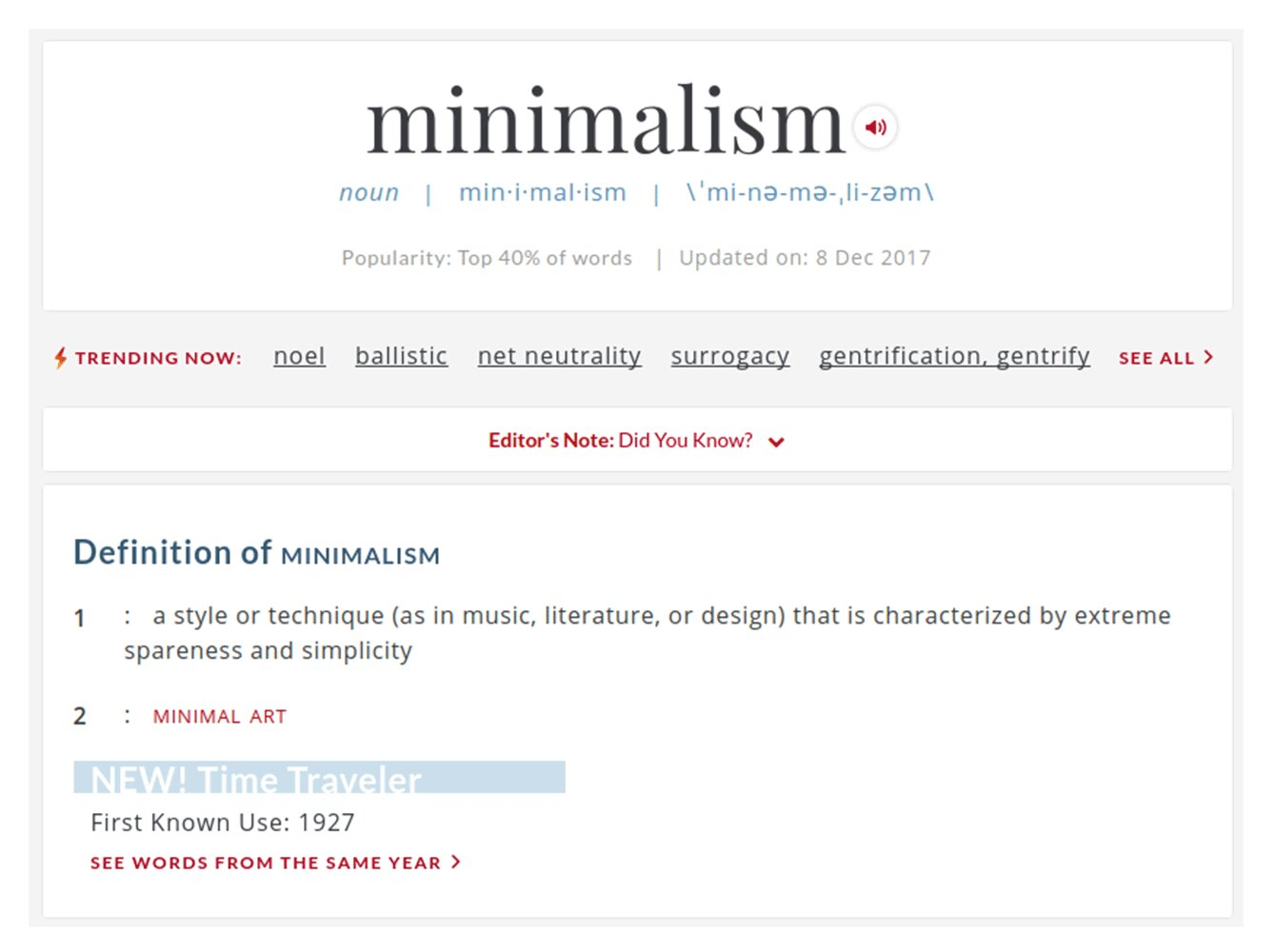 what is a minimal website design